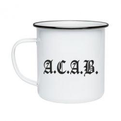 Кружка емальована A.C.A.B