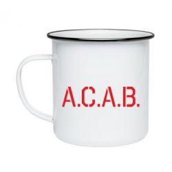 Кружка емальована A.C.A.B.