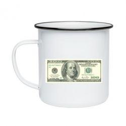 Кружка емальована Американський Долар