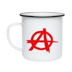 Кружка эмалированная Anarchy