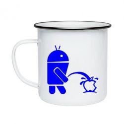 Кружка емальована Android принижує Apple