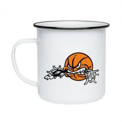Кружка эмалированная Angry ball