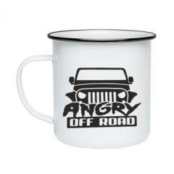 Кружка емальована Angry Off Road
