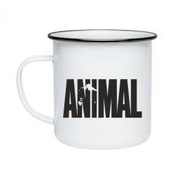 Кружка эмалированная Animal Logo
