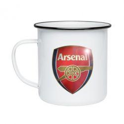 Кружка емальована Arsenal 3D