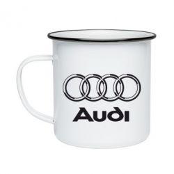 Кружка эмалированная Audi Big
