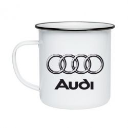 Кружка эмалированная Audi Small