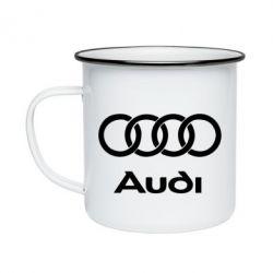 Кружка эмалированная Audi - FatLine