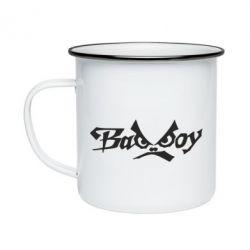 Кружка емальована Bad Boy Logo