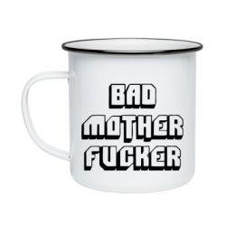 Кружка эмалированная Bad Mother F*cker
