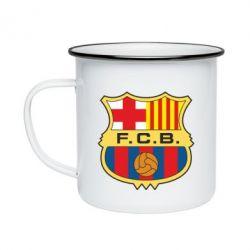 Кружка емальована Barcelona