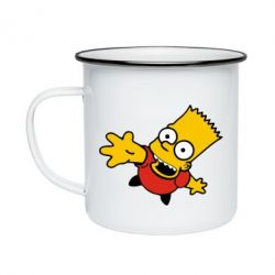 Кружка эмалированная Барт Симпсон