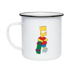 Кружка эмалированная Bart Simpson - FatLine