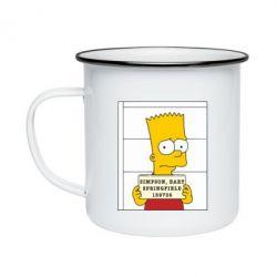 Кружка эмалированная Барт в тюряге - FatLine