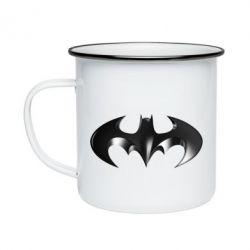 """Кружка эмалированная Batman """"3d Logo"""""""