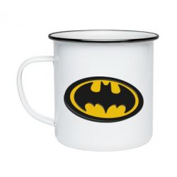 Кружка емальована Batman 3D