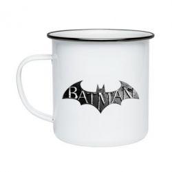 Кружка эмалированная Batman: arkham city
