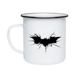 Кружка эмалированная Batman cracks - FatLine