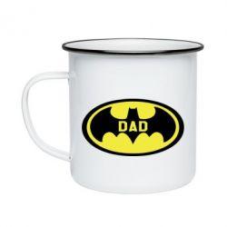 Кружка емальована Batman dad