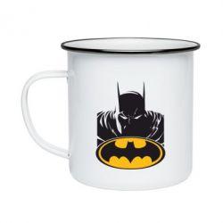 Кружка емальована Batman face