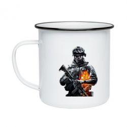 Кружка эмалированная Battlefield Warrior