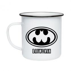 Кружка емальована Batwoman
