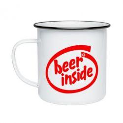Кружка эмалированная Beer Inside
