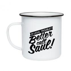 Кружка емальована Better call Saul!