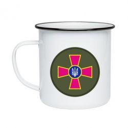 Кружка эмалированная Безпека Військової Служби