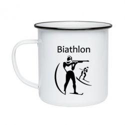 Кружка эмалированная Biathlon