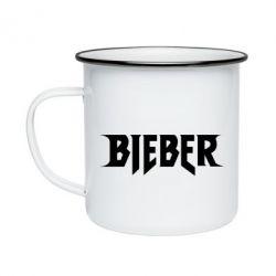 Кружка эмалированная Bieber