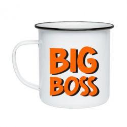 Кружка эмалированная Big Boss