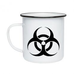 Кружка эмалированная biohazard