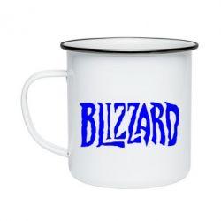 Кружка емальована Blizzard Logo