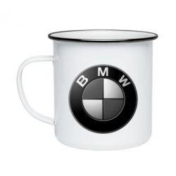 Кружка емальована BMW Black & White - FatLine