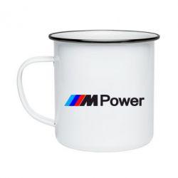 Кружка эмалированная BMW M Power logo