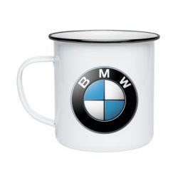 Кружка эмалированная BMW Small Logo