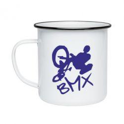 Кружка емальована BMX