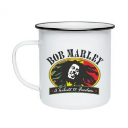 Кружка емальована Bob Marley A Tribute To Freedom