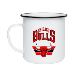 Кружка емальована Великий логотип Chicago Bulls