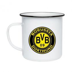 Кружка емальована Borussia Dortmund