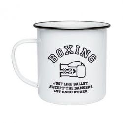 Кружка эмалированная Boxing just like ballet - FatLine
