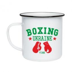 Кружка эмалированная Boxing Ukraine