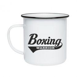 Кружка емальована Boxing Warrior
