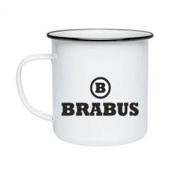 Кружка эмалированная Brabus