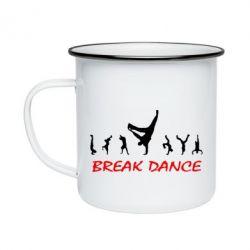Кружка эмалированная Break Dance