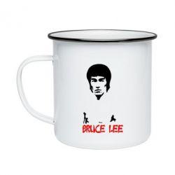 Кружка эмалированная Bruce Lee