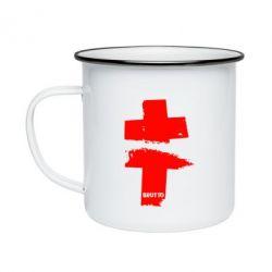 Кружка эмалированная Brutto Logo