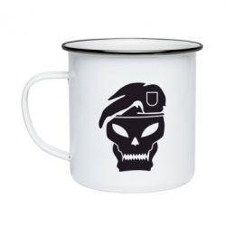 Кружка эмалированная Call of Duty Black Ops logo