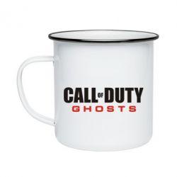 Кружка емальована Call of Duty Ghosts логотип